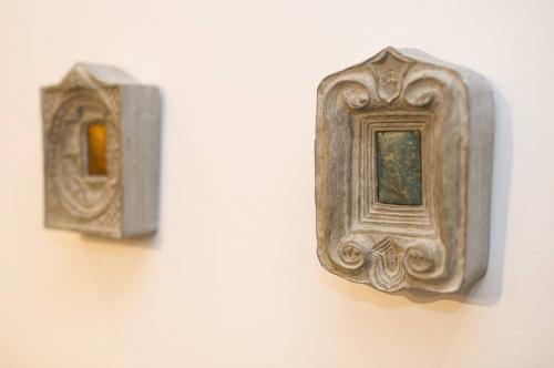 """Vita Pukštaitė-Bružė diptikas """"Karalius ir Karalienė mano"""" . Pagrindinis prizas – galerijos """"Meno niša"""" auksinis angelu MAGĖ su deimantu"""