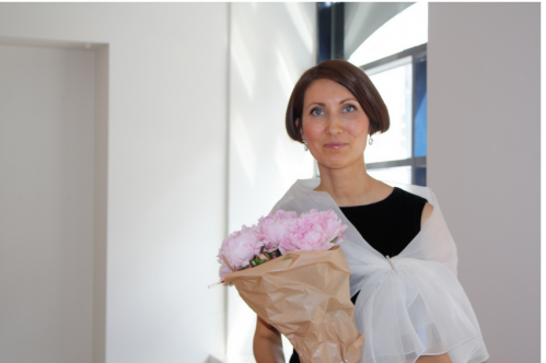 Anna Fanigina parodos atidarymo akimirka