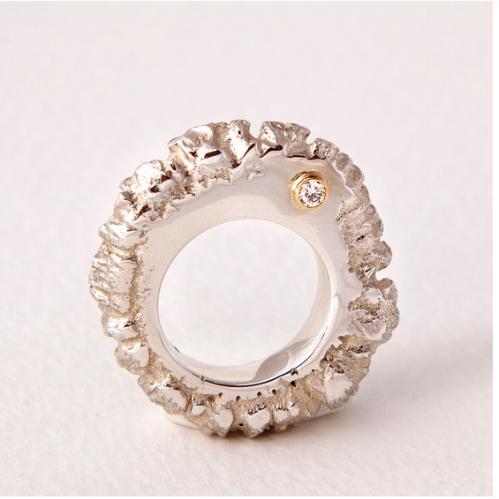 Tuula Harrington (Airija / Ireland), sidabras, auksas, deimantas / silver, gold, diamond