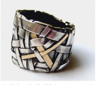 Patricia Gurgel-Segrillo (Airija / Ireland) žiedas, sidabras, auksas / ring, silver, gold